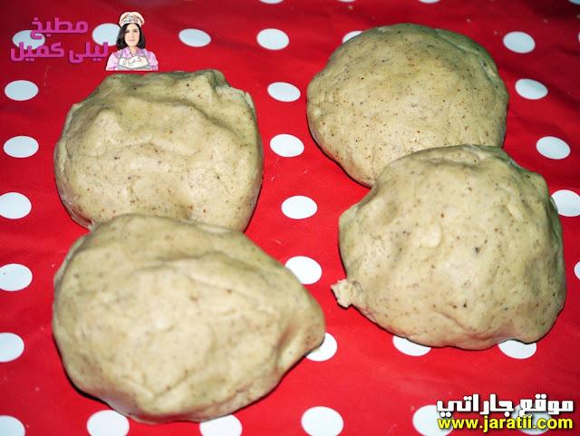 حلويات الصابلي : حلوة وريدات بالمكسرات والكراميل