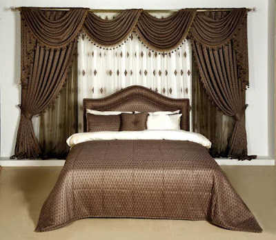 The best types of curtains and curtain design styles 2019, brown curtain design