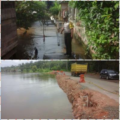 Peduli Warga, Polsek Sekayu Pantau Daerah Rawan Banjir dan Longsor