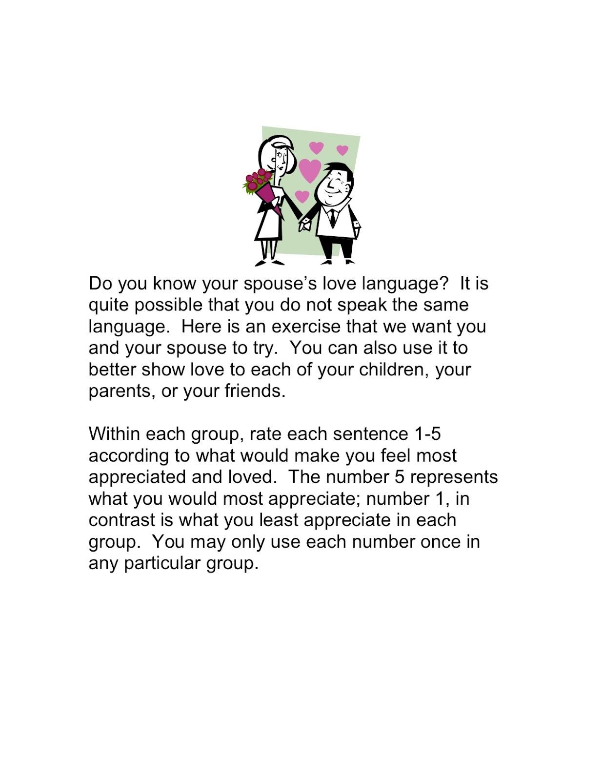 Living The Good Life Love Language Quiz