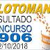 Resultado da Lotomania concurso 1906 (02/10/2018) ACUMULOU!!!