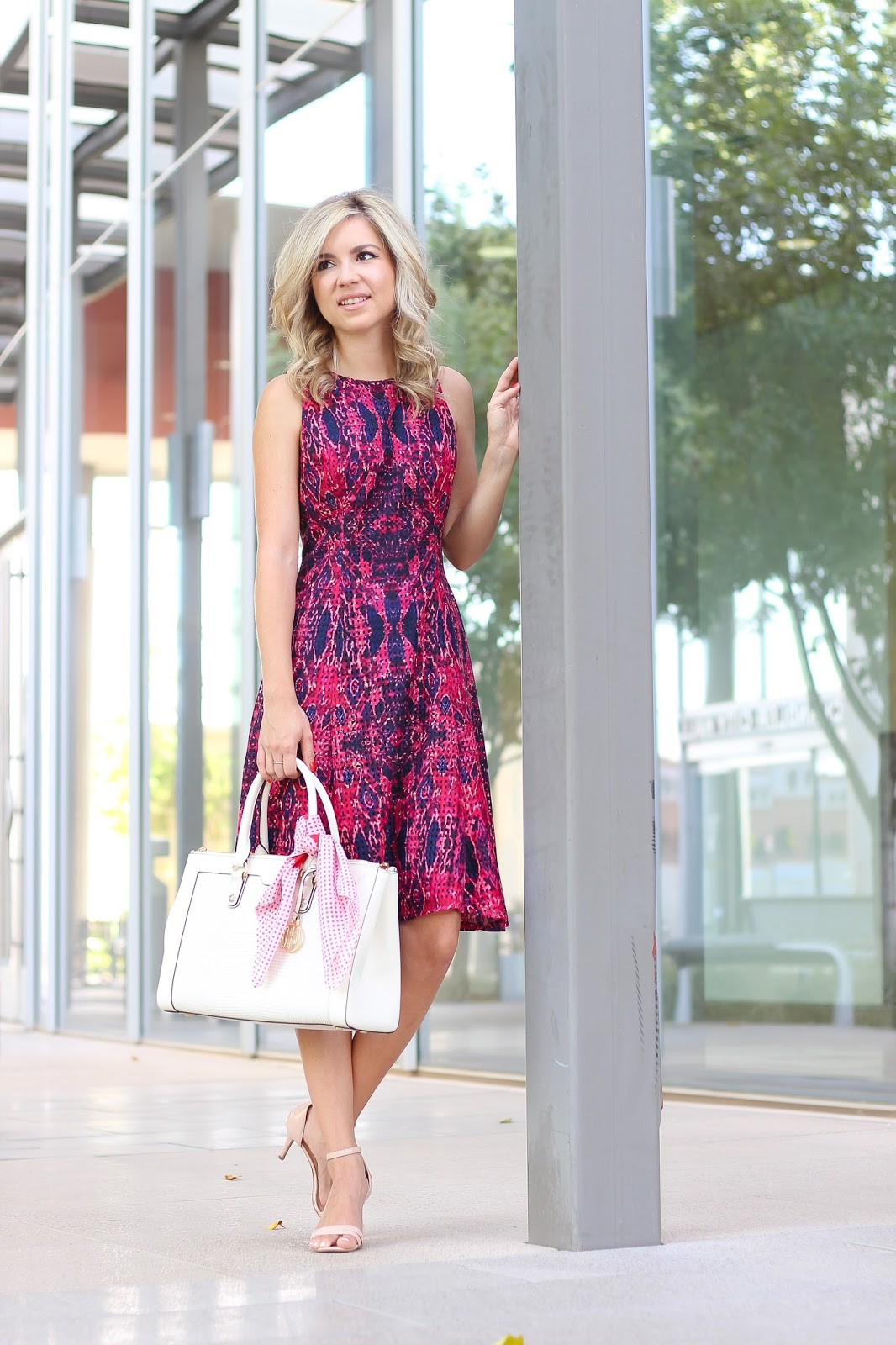 Dress outfit, fit and flare dress, day dress outfit