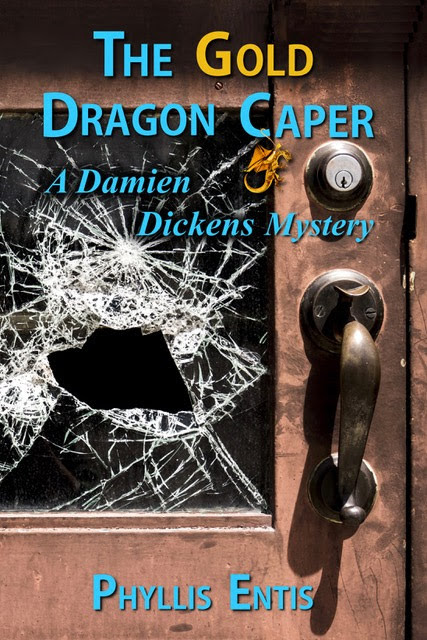 The Gold Dragon Caper by Phyllis Entis, Book Review by On My Kindle Book Reviews