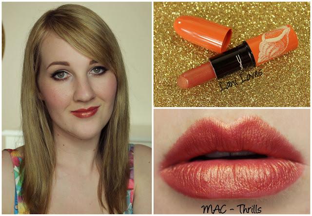 MAC Thrills lipstick swatch