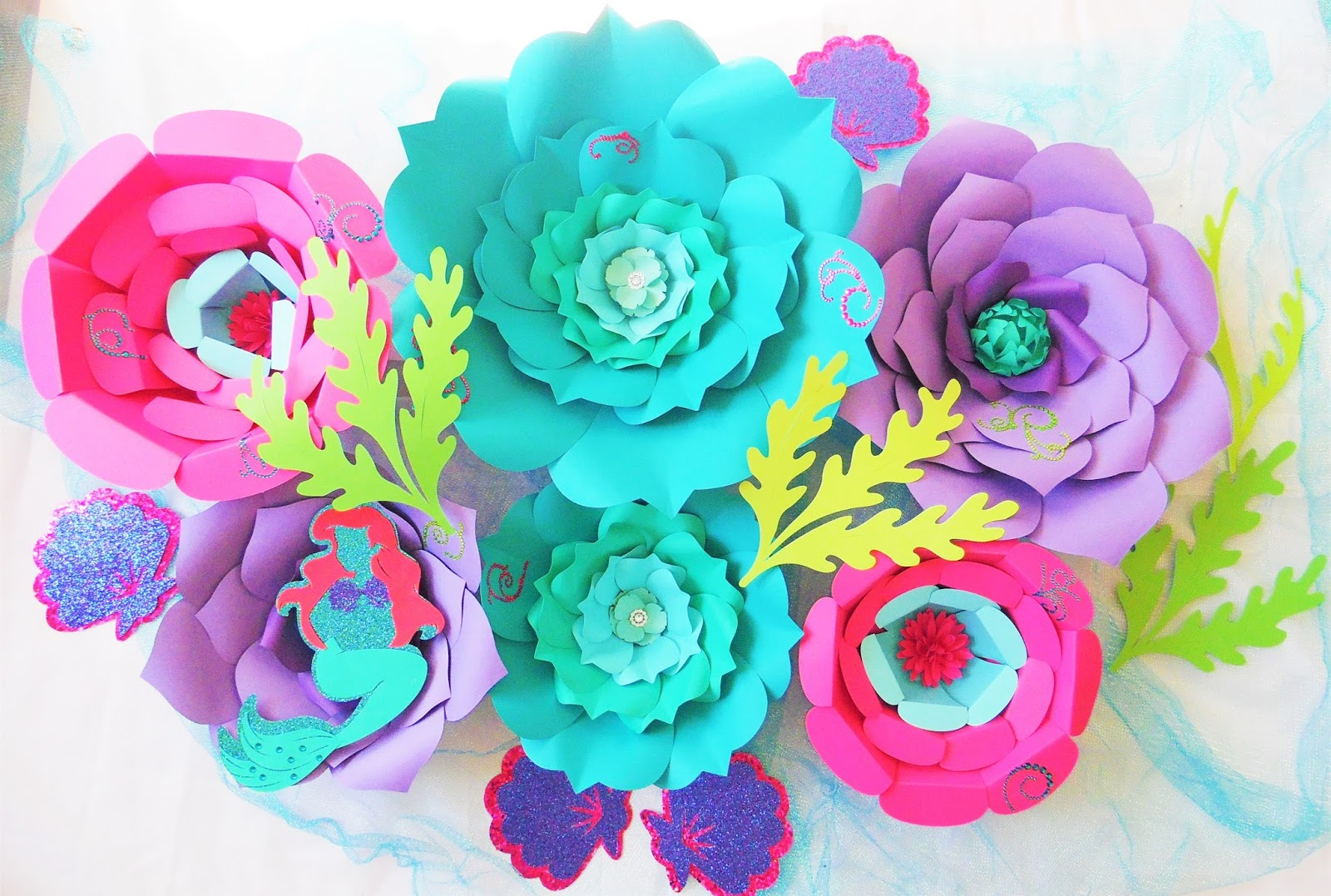 How to create paper flowers gallery flower decoration ideas mamas gone crafty diy paper flowers under the sea ocean theme now that i have so mightylinksfo