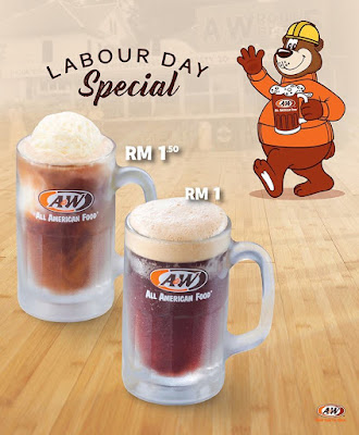 A&W Malaysia Labour Day Special Root Beer RM1 RB Float RM1.50 Discount Promo