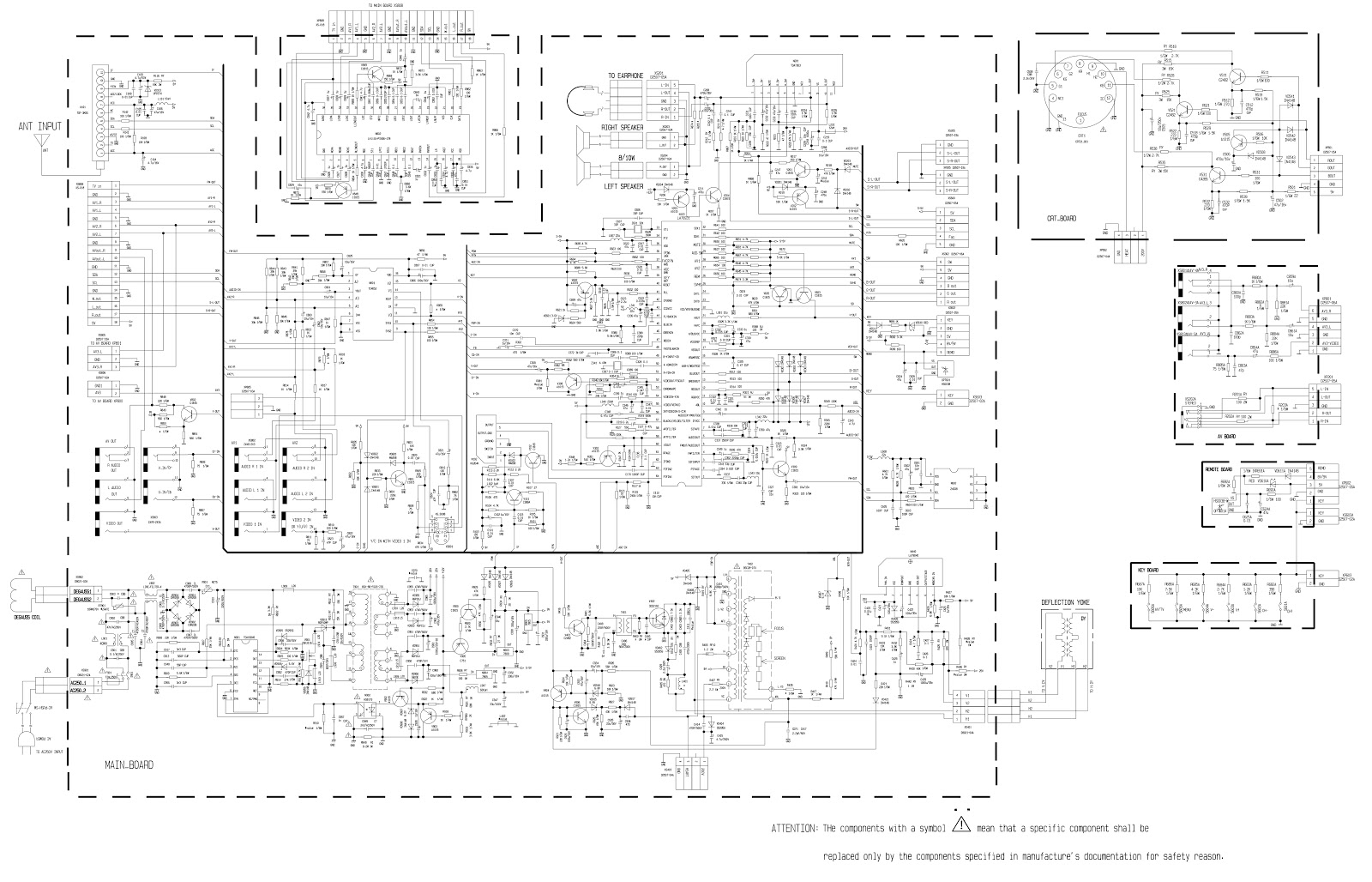 top house kp21sa210 crt tv circuit diagram [ 1600 x 1028 Pixel ]