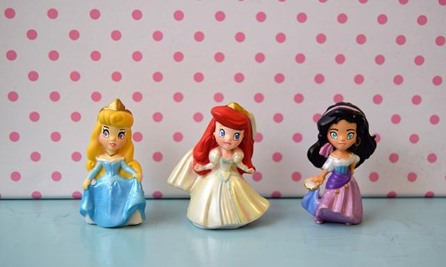 Disney Princess Zizzlingers, Prinsessa Ruusunen, Ariel, Esmeralda
