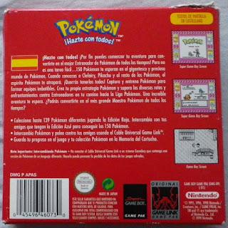 Pokemon Edición Roja - Caja detrás