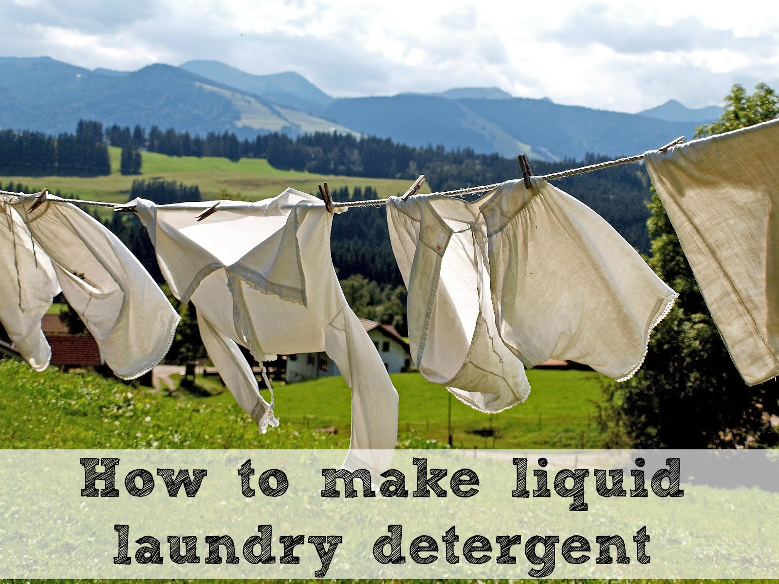 How to make laundry soap