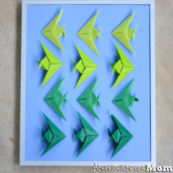 Architecture Of A Mom Ombre Origami Fish Art