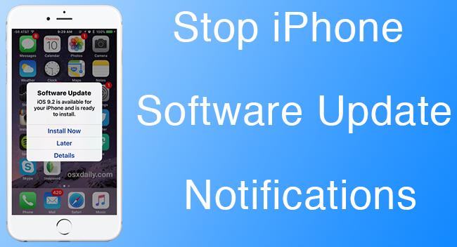 Stop iPhone Software Update