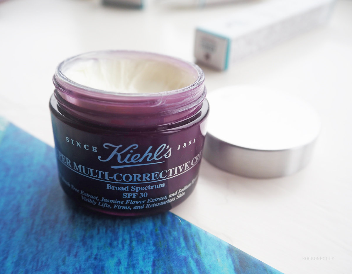 Kiehl's Multi-Corrective Cream on the Rock On Holly blog