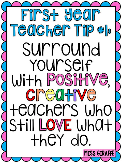 First Year Teacher Tips - 21 awesome pieces of advice for brand new teachers!