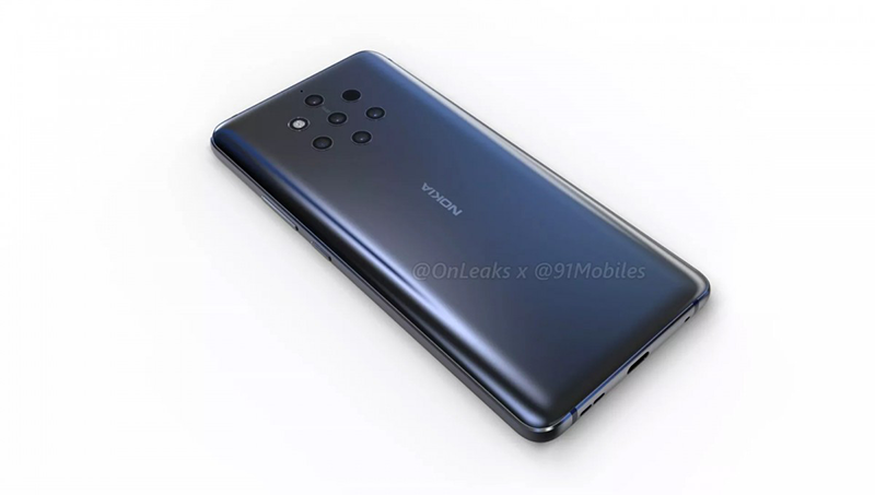 Nokia 9 renders with 5 cameras at the back appeared!