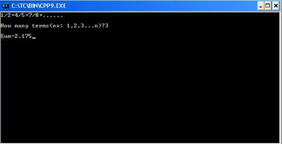 C++ program to find sum of series 1/2+4/5+7/8+......