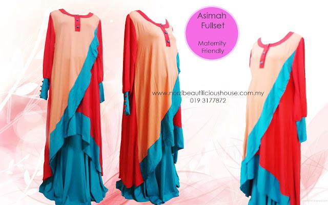 baju mengandung murah LR fashion jubah cantik wholesale
