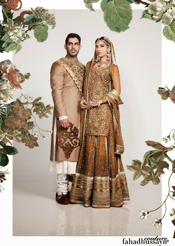 f6e9ba04e5 Fahad Hussayn Wedding Dresses 2014 For Men & Women. Fahad Hussayn is one of  the talented and famous fashion designer in Pakistan.Fahad Hussayn Couture  is a ...