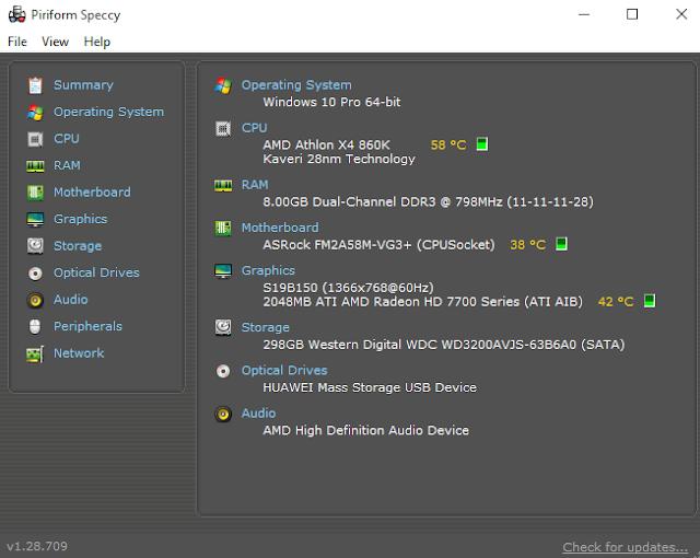 cara mengetahui ukuran memori VGA di laptop pc
