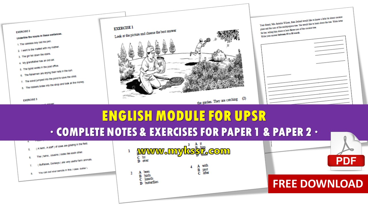 This Powerful English Module Covers Every Section For Both Paper 1 And 2 It Is Based On The New UPSR Format Also Provides Useful Notes