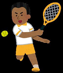 テニス選手のイラスト(黒人男性)