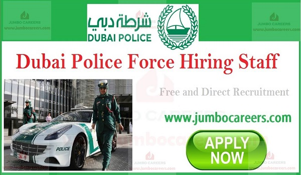 Available government jobs in UAE,  Dubai jobs with salary,