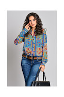 Camasa Catalina casual multicolora