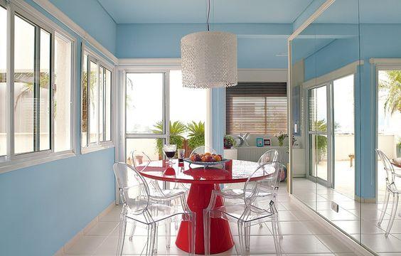mesa-vermelha-decoração-arquitetura