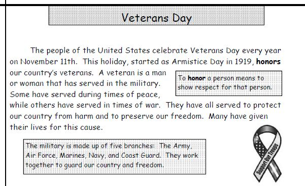 Veterans Day Planning Resources and a Few Freebies! - Fern Smith's ...