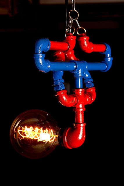 Spiderman Industrial Desk Lamp Or Bedside Lamp, AWESOME SpiderMan Water  Piping Lamp Hanging UpSide Down