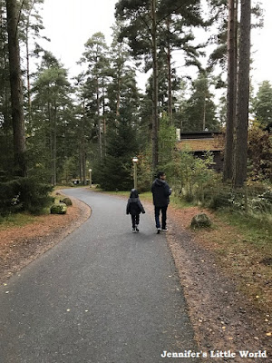 Walking through the forest at Center Parcs