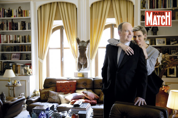 Prince Albert and Princess Charlene of Monaco featured in the latest issue of Paris Match