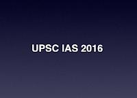 UPSC IAS 2016