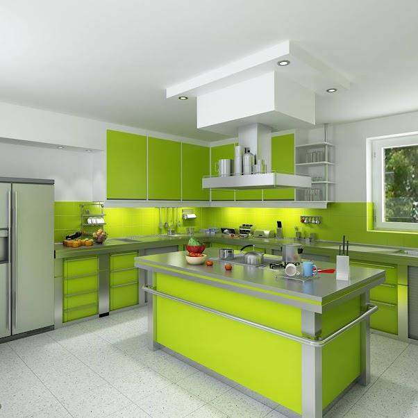 Inspirasi Desain Dapur Nuansa Hijau Terbaru 2019