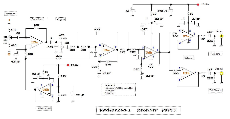 Qrp Homebuilder Qrphb 2016 3khz Low Pass Filter And Audio Amplifier Circuit Diagram Super 2 I Q Channel Summer Af Amplifiers Splitter
