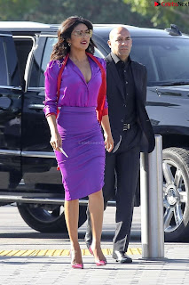 Priyanka Chopra in Beautiful Purple at universal studios ~ .xyz Exclusive