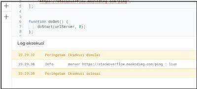 log eksekusi google script