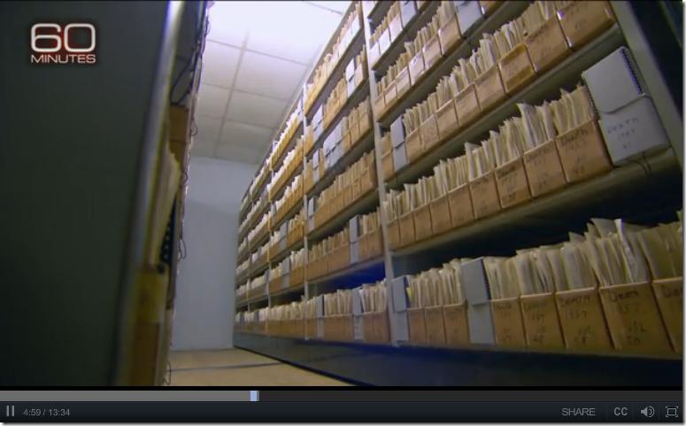 在阿拉巴马州重要记录办公室的高密度搁架