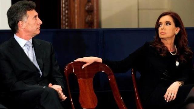 Cristina Kirchner apunta contra Macri por crear guerra energética