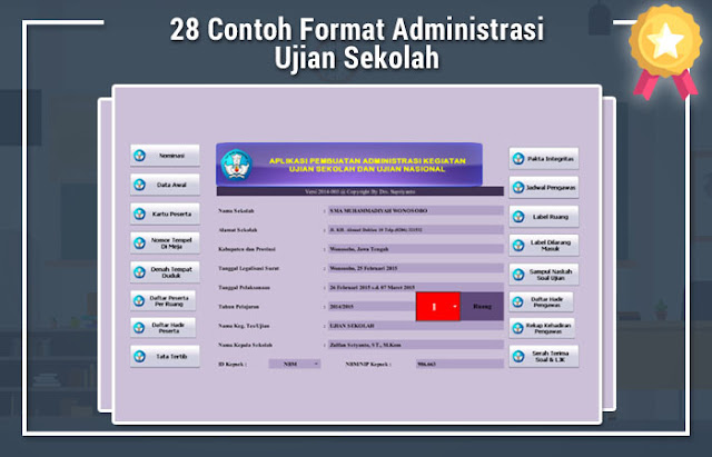 28 Contoh Format Administrasi Ujian Sekolah