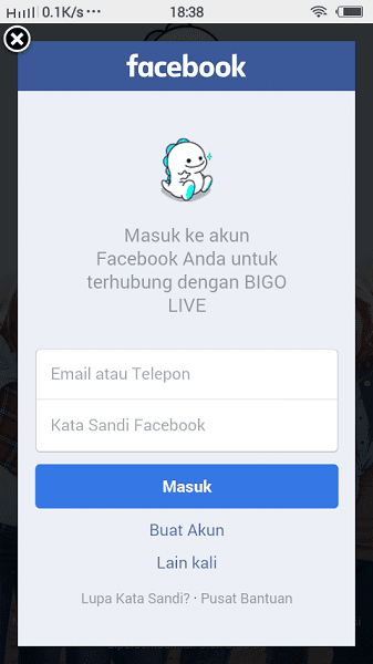 Cara Daftar di Bigo Live