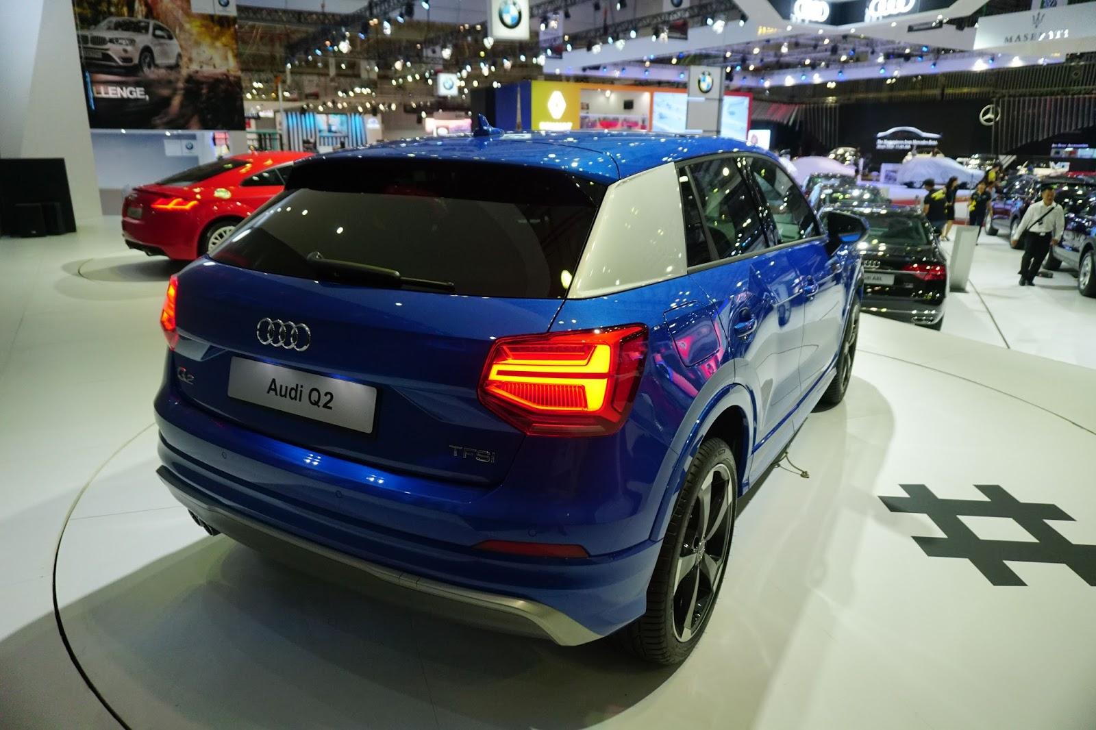 Đuôi xe của Audi Q2 mạnh mẽ, tinh tế và có gì đó rất thể thao, hiện đại