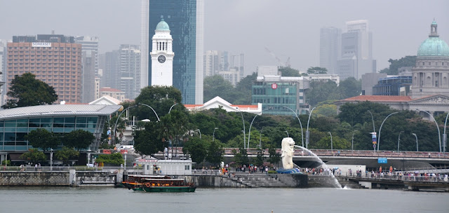 Singapore Bay area Merlion