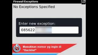 Cara Memblokir Nomor HP Di BlackBerry