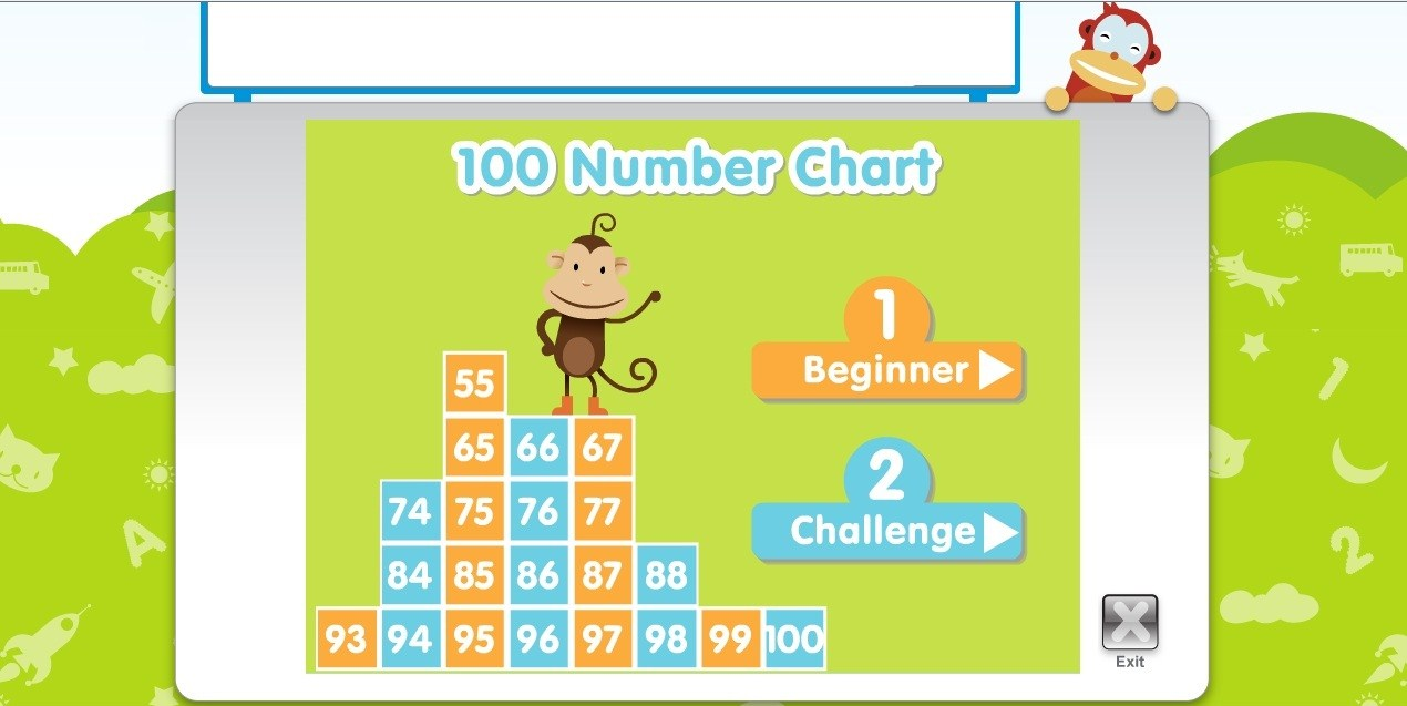 Ministry Of Kids Central One Hundred Number Chart Game By