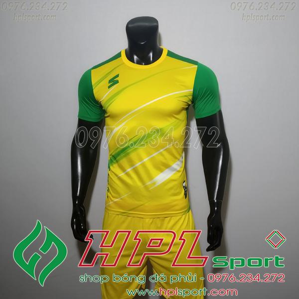 Áo bóng đá không logo TL HML Inza màu vàng