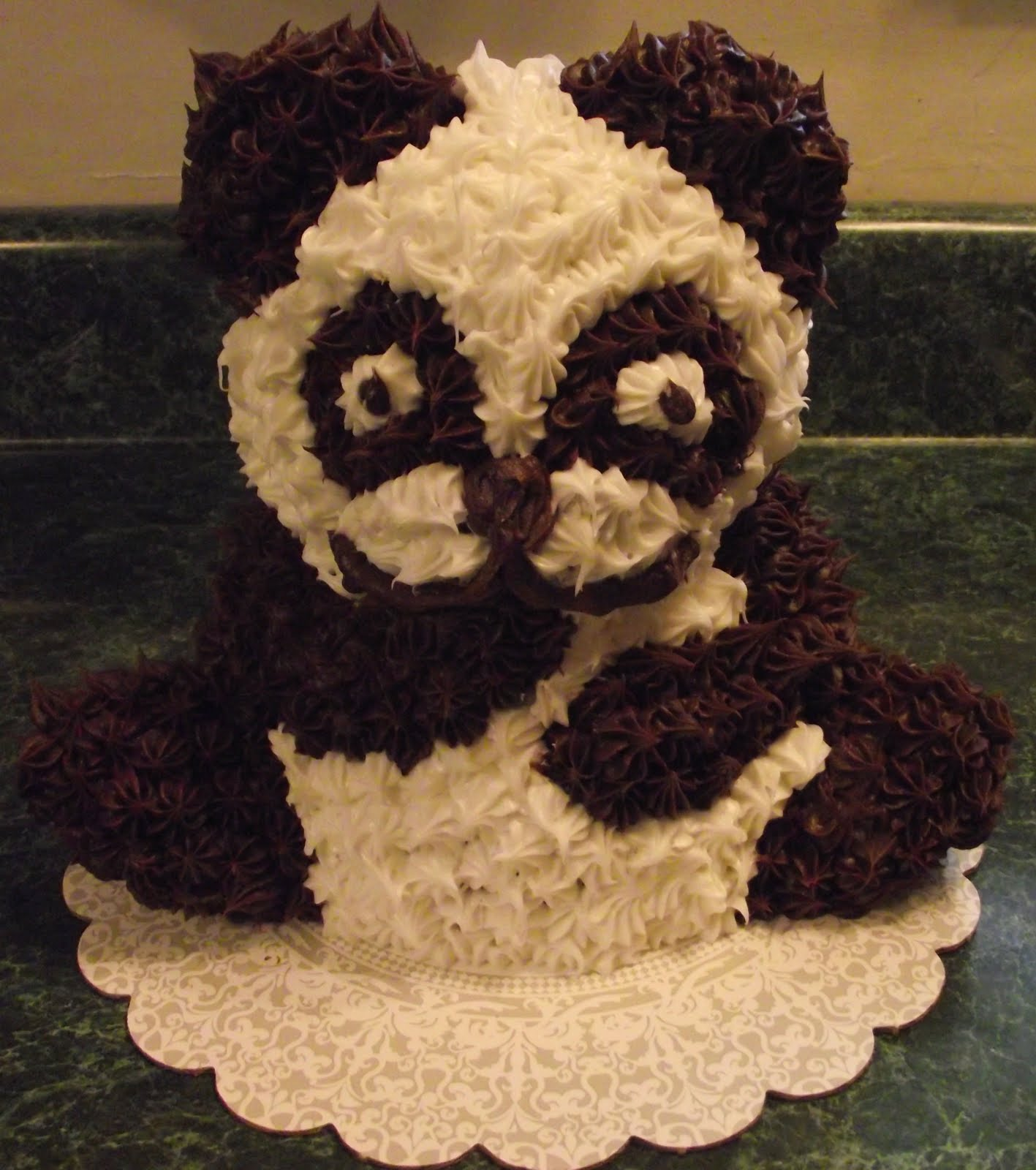 Pin panda bear face template picture cake on pinterest for Panda bear cake template
