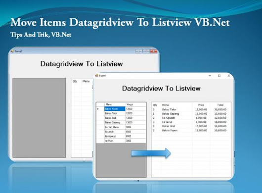 Move Items Datagridview To Listview VB.Net