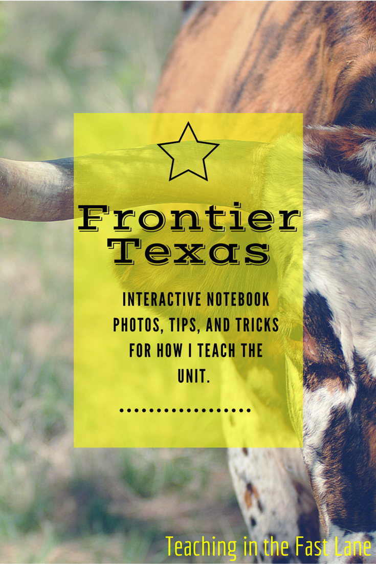 My Frontier Texas Notebook Cowboys And Cattle Drives