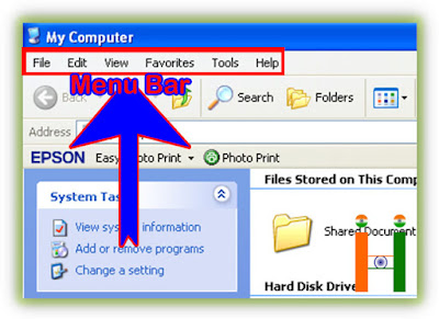Menu Baar My Computer